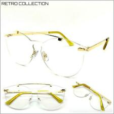 CLASSIC VINTAGE RETRO Style Clear Lens EYE GLASSES Rimless Gold Fashion Frame