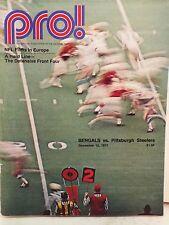 PRO! BENGALS VS PITTSBURGH STEELERS DECEMBER 12, 1971 NFL FILMS IN EUROPE