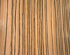 """Zebrawood African composite wood veneer 24"""" x 48"""" raw no backer 1/42"""" thick"""