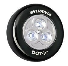 Sylvania DOT-it Self-Adhesive Bright White LED Light, Black