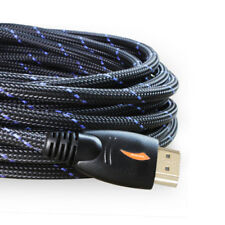 Long 25Ft Hdmi Cable 1080P 4K Ethernet - 26Awg Braided Hdmi Cord - Audio Return