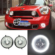 2x Exact Fit Halo LED Daytime Running Light Fog Assembly For MINI Cooper R60 R56