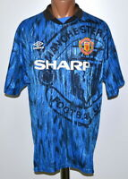 MANCHESTER UNITED 1992/1993 AWAY FOOTBALL SHIRT JERSEY UMBRO SIZE XL ADULT
