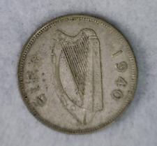 IRELAND FLORIN 1940 SILVER COIN ( stock# 594)