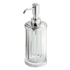 InterDesign Alston Refillable Soap/Lotion Dispenser, Made of Plastic, Clear/Chro