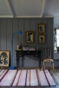 Large Ainsley Dusky Pink Rugs Striped Handmade 100% Wool 240x300cm RRP £900
