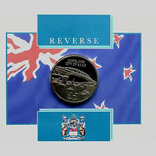 1996 CITY OF AUCKLAND, $5 UNC COIN COMES IN A FOLDER