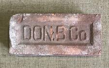 Vintage Antique DON B Co Reclaimed Red Brick Paver Street Garden Yard Decor USA