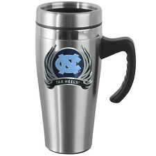 North Carolina Tar Heels 14 oz Stainless Steel Travel Mug w/Handle & Flames NCAA