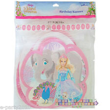 BARBIE Island Princess BIRTHDAY BANNER ~ Party Supplies Room Hanging Decorations