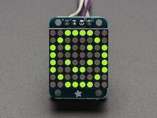 """Adafruit Mini 0.8"""" 8x8 LED Matrix w/I2C Backpack – Yellow-Green"""