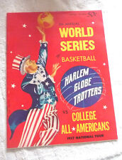 HARLEM GLOBE TROTTERS VS COLLEGE ALL AMERICANS BASKETBALL WORLD SERIES 1957