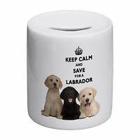Keep Calm And Save For A Labrador Novelty Ceramic Money Box