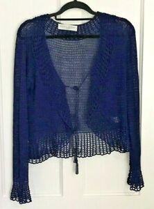 EDINA RONAY Crochet Cardigan, Shrug, Small, Lovely Condition