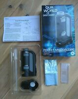 *NEW* POCKET MICROSCOPE with light, 20-40x - Includes dropper, specimen slides
