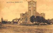 Madison South Dakota Me Church Exterior Street View Antique Postcard K21295