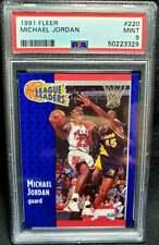 Michael Jordan 1991 Fleer #220 PSA 9 Mint Chicago Bulls HOF 1991-92