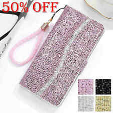 For Samsung Galaxy S20 Note 10 Plus Bling Leather Wallet Case Flip Card Holder