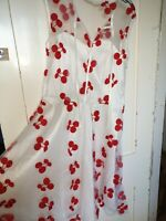 Voodoo Vixen Stacey White red cherries dress xl uk 12- 14 pin-up rockabilly 50s