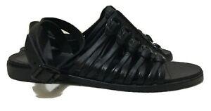 GIVENCHY Nautica Eyelet Rubber Sandal, Black Sz 36 / US 6 / UK 3 / Aus 5