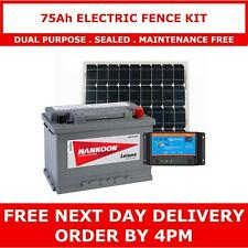 More details for 75ah leisure battery and 40w solar panel package, perfect for electric fences