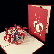 POP UP 3D card - kiss / dance couple / love / romantic (anniversary, wedding)