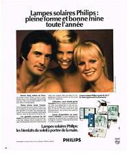 PUBLICITE   1974    PHILIPS  lampes solaires
