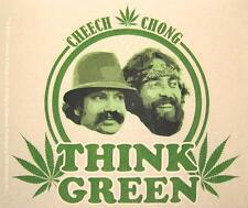 """CHEECH & CHONG AUFKLEBER / STICKER # 2 """"THINK GREEN"""" - PVC"""
