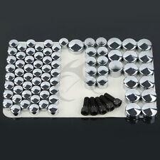 New Chrome ABS Plastic Bolt Toppers Kit For Harley FLH FLT 2007-2012 2011 2010