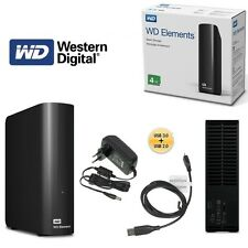 Western Digital WD Elements Desktop Hard Drive 4tb USB 3.0 Wdbwlg0040hbk-eesn
