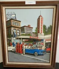 """RARE H. Hargrove Fill Her Up Serigraph COA Signed Framed """"Low"""" 3 / 1500"""
