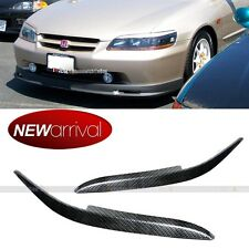 For 98-02 ACCORD CARBON PAINTED HEADLIGHT COVER EYELID EYEBROW EYE LID BROW