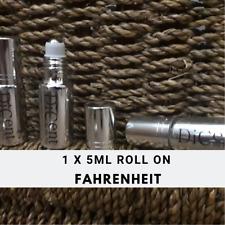 Fahrenheit Men Designer Inspired Pure Perfume Oil Mini Roll On Silver