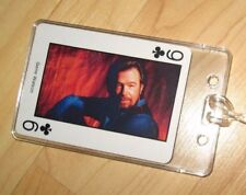 Gene Watson Luggage Tag - Vintage 1980's Country Music Western Playing Card Tag