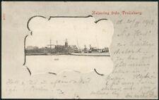Old Sverige orig. Postcard 1902 -Helsning frán Trelleborg to Böhmen -RARE