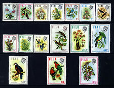 FIJI QE II 1971 Complete Birds and Flowers Set SG 435 to SG 520 MINT