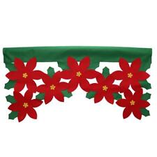 Christmas Flower Curtain Xmas Home Holiday Party Window Door Decorations