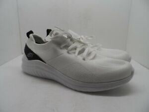 Skechers Men's Memory Foam Insole Slip On Casual Shoe White Size 12M