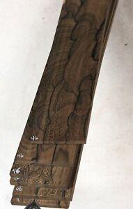 """Ziricote guitar fretboard blank fingerboard 3x19.4"""" ZCF46"""