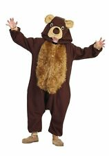 RG Costumes 40175 Child Unisex Brown Bear Jumpsuit Costume (As Shown;Large)