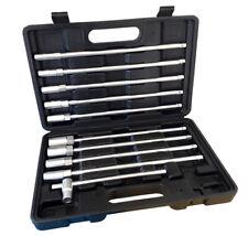 Set kit 11 pz chiavi chiave a T esagonali extra lunghe 9 bussole 8-19mm ZT5011