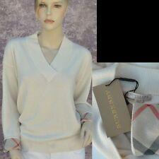 BURBERRY LONDON New sz XL 100% Cashmere Authentic Designer Womens Sweater check