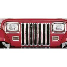 RAMPAGE 7511 -Chrome Grill Inserts for 1997-2006 Jeep Wrangler