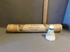 VINTAGE CANISTER FEATHERED BADMINTON SHUTTLECOCK NEVER USED FREE SHIPPING G13