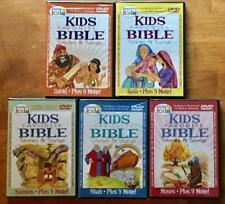 Kids Favorite Bible Stories & Songs  David Noah Ruth Samson Moses 5 DVD Lot NEW