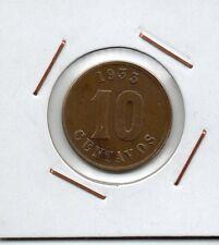 Perú : 10 Centavos 1933 RESTAURANTES POPULARES VF+ ( rare )