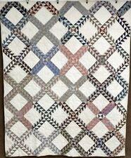 Graphic! c 1880-1900 Old Maids Ramble Quilt Antique Tiny pcs Crisp