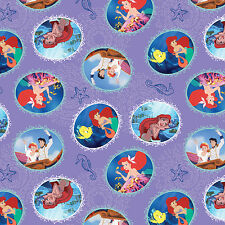 Disney The Little Mermaid Fairy Tale Ending 100% Cotton Fabric by the yard