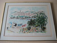 "SEASCAPE LIMITED EDITION 99/300 ETCHING PRINT, SIGNED BY ARTIST, 26"" X 19 1/2"""