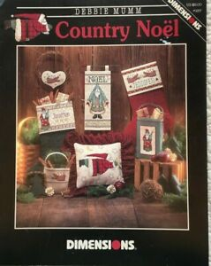 Country Noel Dimensions Debbie Mumm Cross Stitch Pattern Leaflet #257**